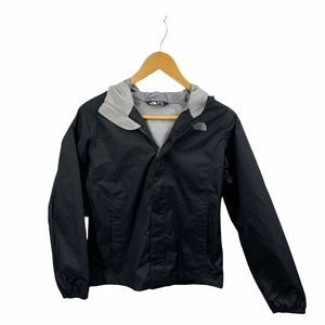 The North Face Black and Gray Hooded Zippered Jacket